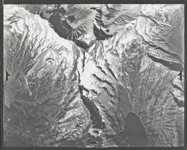Glacier in Mission Range, aerial photograph F-52-7, Montana
