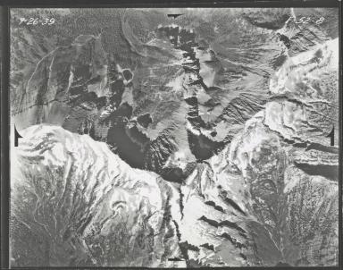 Glacier in Mission Range, aerial photograph F-52-8, Montana
