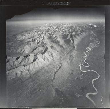 Glacier near Snowcap Mountain, aerial photograph FL 8 R-7, Alaska