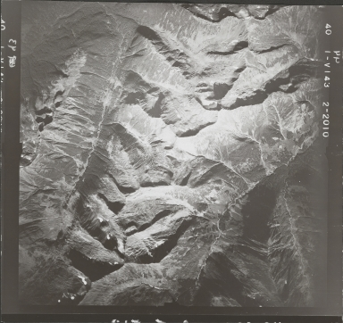 Southwest of Taylor River, aerial photograph FL 40 V-143, British Columbia