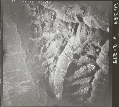 Skeena Mountains, aerial photograph FL 40 V-145, British Columbia