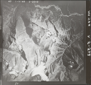 Skeena Mountains, aerial photograph FL 40 V-148, British Columbia