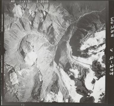 Deltaic Creek, aerial photograph FL 40 V-151, British Columbia