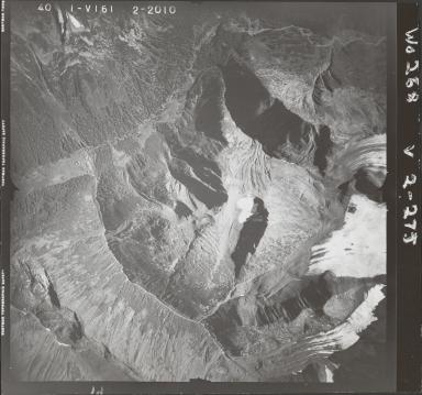 Snowbank Creek, aerial photograph FL 40 V-161, British Columbia