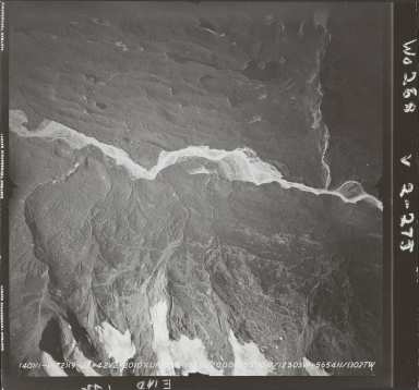 Iskut River, aerial photograph FL 40 V-172, British Columbia