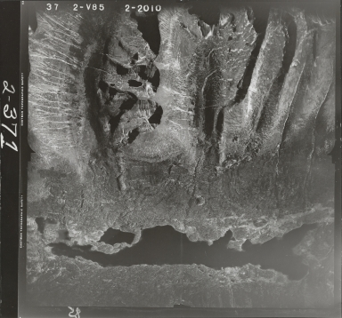 Cirques in Klappan Range, aerial photograph FL 49 V-85, British Columbia