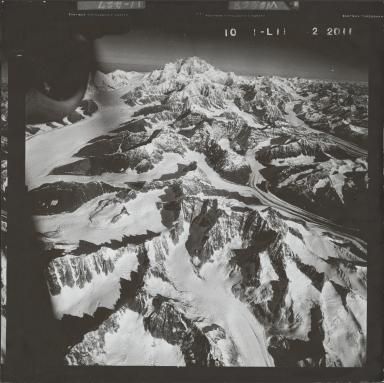 Kahiltna Glacier, aerial photograph FL 58 L-11, Alaska