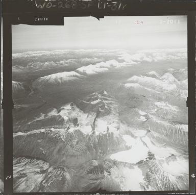 Glacier near Lake Ch'akajabena Lake, aerial photograph FL 59 L-4, Alaska
