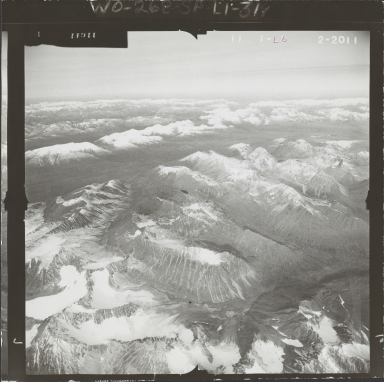 Unknown glacier, aerial flight L 59 L-6, Alaska