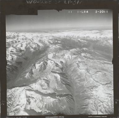 Eldridge Glacier, aerial photograph FL 59 L-84, Alaska