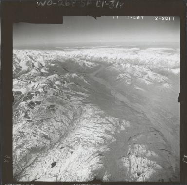 Eldridge Glacier, aerial photograph FL 59 L-87, Alaska