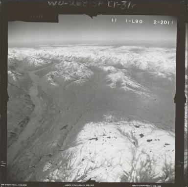 Eldridge Glacier, aerial photograph FL 59 L-90, Alaska