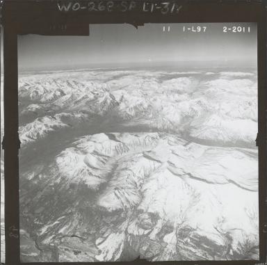 Eldridge Glacier vicinity, aerial photograph FL 59 L-97, Alaska