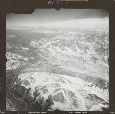 Unknown glaciers near Broad Pass, aerial photograph FL 59 R-104, Alaska