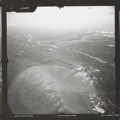 Glacier near Skwentna River, aerial photograph FL 59 R-19, Alaska