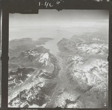 Unknown glaciers near Iniskin Bay, aerial photograph FL 72 L-14, Alaska
