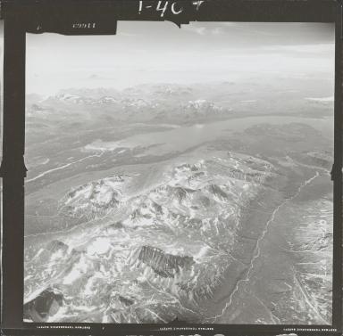 Unknown glaciers near Pile Bay of Iliamna Lake, aerial photograph FL 72 L-24, Alaska