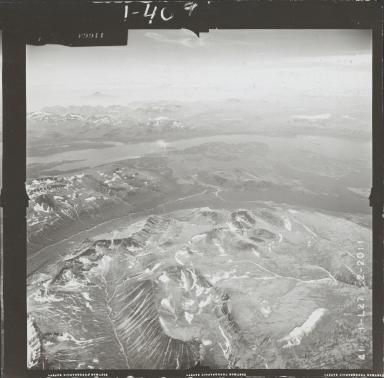 Unknown glaciers near Pile Bay of Iliamna Lake, aerial photograph FL 72 L-27, Alaska