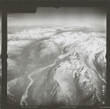Umbrella Glacier, aerial photograph FL 72 R-10, Alaska