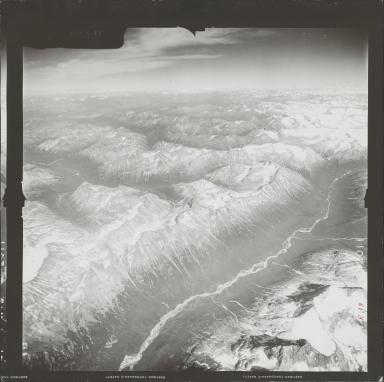 Iliamna Volcano, aerial photograph FL 72 R-18, Alaska