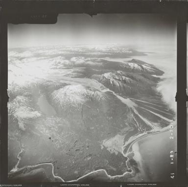 Red Glaciers, aerial photograph FL 72 R-3, Alaska