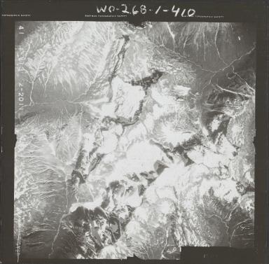 Unknown glaciers near Chinitna Bay, aerial photograph FL 72 V-13, Alaska