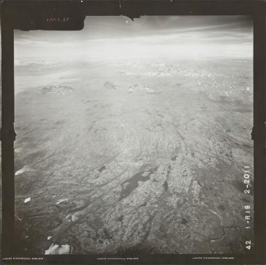 Glacier near Iliamna Lake, aerial photograph FL 73 R-19, Alaska