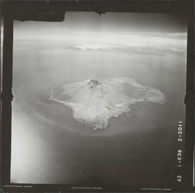 Augustine Island, aerial photograph FL 73 R-36, Alaska