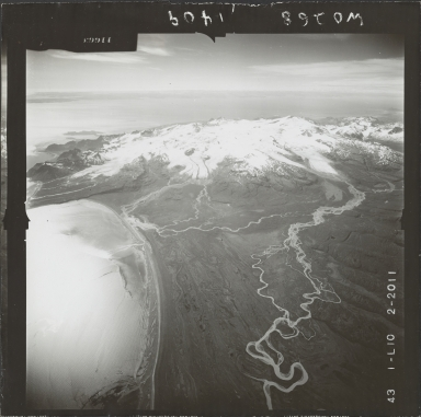 Glacier near Mount Douglas, aerial photograph FL 74 L-10, Alaska