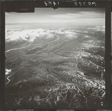 Glacier near Mount Douglas, aerial photograph FL 74 L-14, Alaska