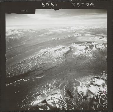Glacier near Kamishak Bay, aerial photograph FL 74 L-23, Alaska