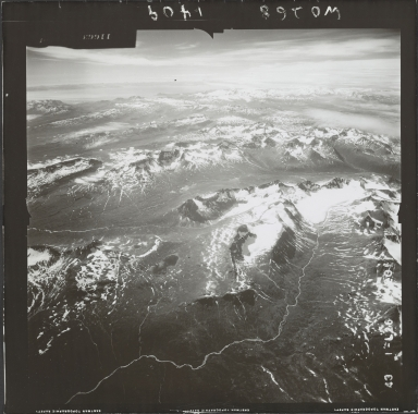 Glacier near Kamishak Bay, aerial photograph FL 74 L-26, Alaska
