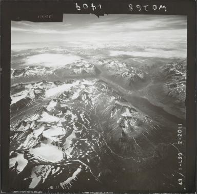 Glacier near Kamishak Bay, aerial photograph FL 74 L-29, Alaska