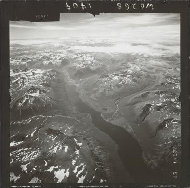Glacier near Kulik Lake, aerial photograph FL 74 L-32, Alaska