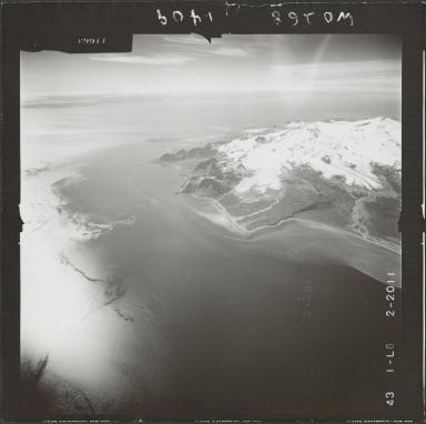 Glacier near Mount Douglas, aerial photograph FL 74 L-6, Alaska