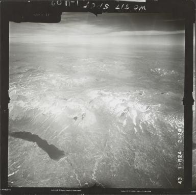 Glacier near Kamishak Bay, aerial photograph FL 74 R-24, Alaska