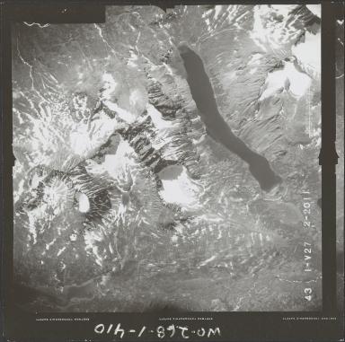 Glacier in Aleutian Range, aerial photograph FL 74 V-27, Alaska