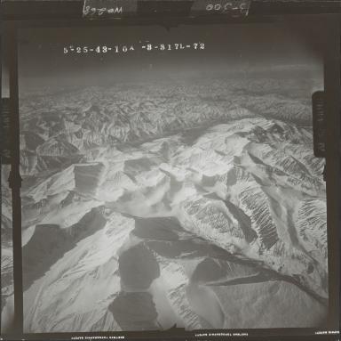 Unknown glacier near McCall Glacier, aerial photograph FL 103 L-72, Alaska