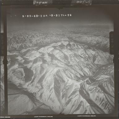 Unknown glacier near Canning River, aerial photograph FL 103 L-74, Alaska