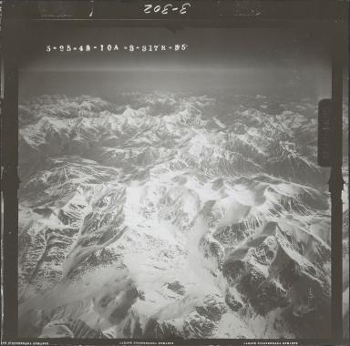Unknown glacier near Sheenjek River, aerial photograph FL 103 R-55, Alaska