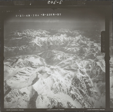 Unknown glacier near Sheenjek River, aerial photograph FL 103 R-57, Alaska