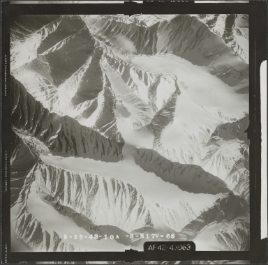 McCall Glacier, aerial photograph FL 103 V-68, Alaska