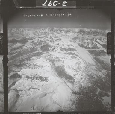 Maclaren Glacier, aerial photograph FL 108 R-128, Alaska