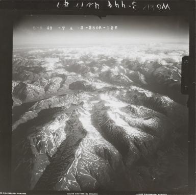 "Unknown glacier (""Cirque Glacier"") southwest of Skwentna River, aerial photograph FL 118 R-126, Alaska"