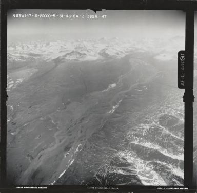 Susitna Glacier, aerial photograph FL 121 R-47, Alaska