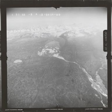 West Fork Glacier, aerial photograph FL 121 R-54, Alaska