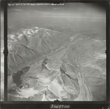 Arey Glacier, aerial photograph M 144 907RT, Alaska