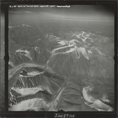 Okpilak Glacier, aerial photograph M 144 912RT, Alaska