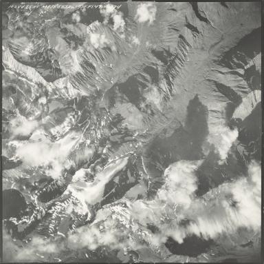Glaciers at head of Ravine Creek, aerial photograph M 875 102, Alaska