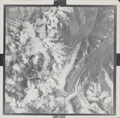 West Fork Glacier, aerial photograph M628 0030, Alaska